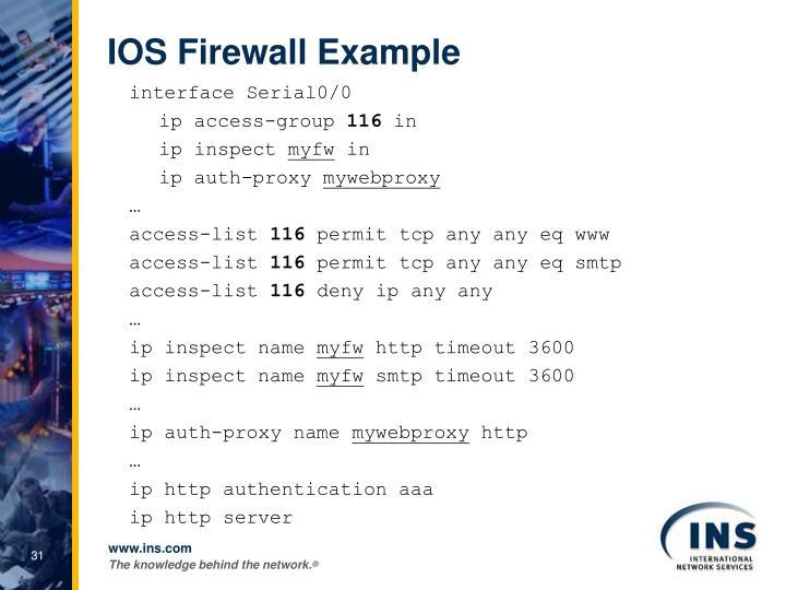 IOS Firewall Example