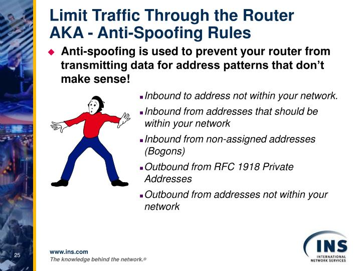 Limit Traffic Through the Router
