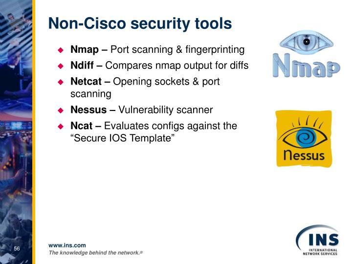 Non-Cisco security tools