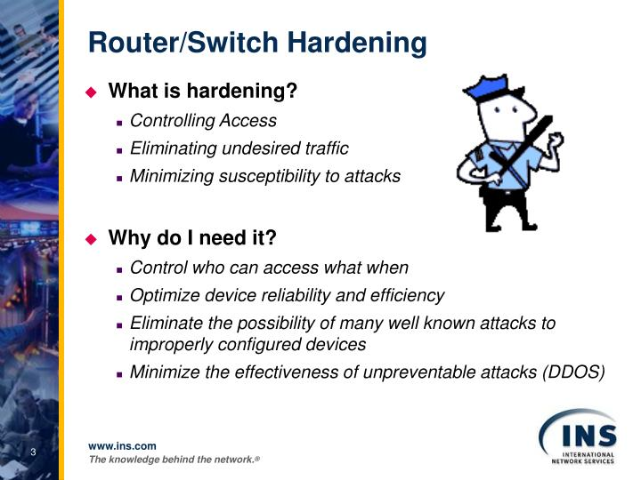 Router switch hardening