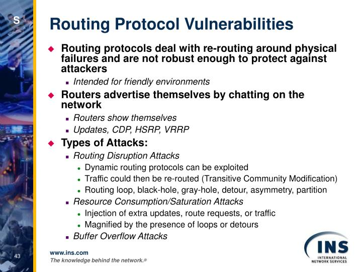 Routing Protocol Vulnerabilities