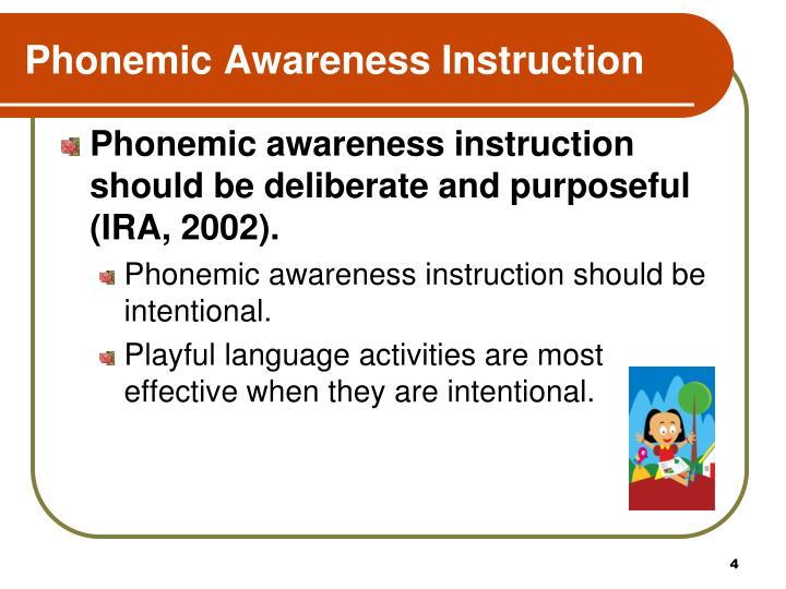 Phonemic Awareness Instruction
