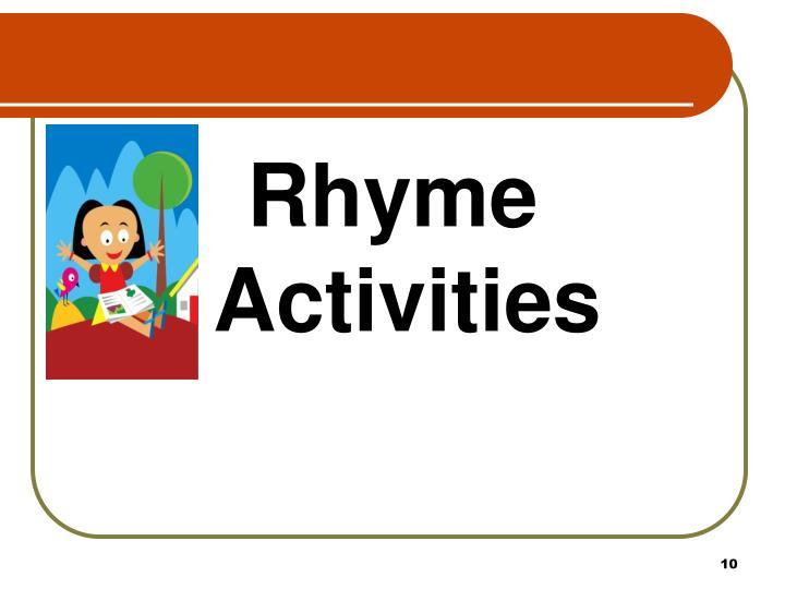 Rhyme Activities