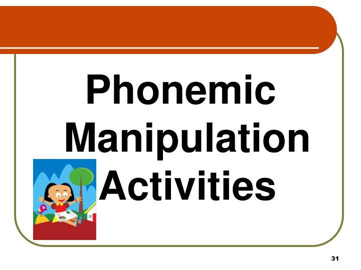 Phonemic Manipulation Activities