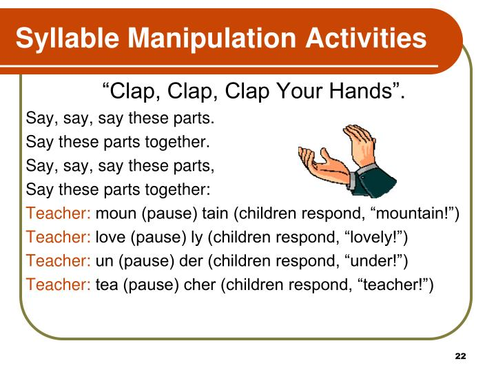Syllable Manipulation Activities