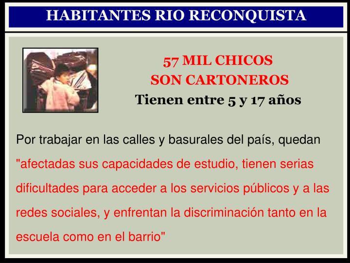 HABITANTES RIO RECONQUISTA