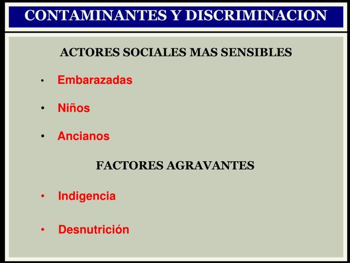 CONTAMINANTES Y DISCRIMINACION