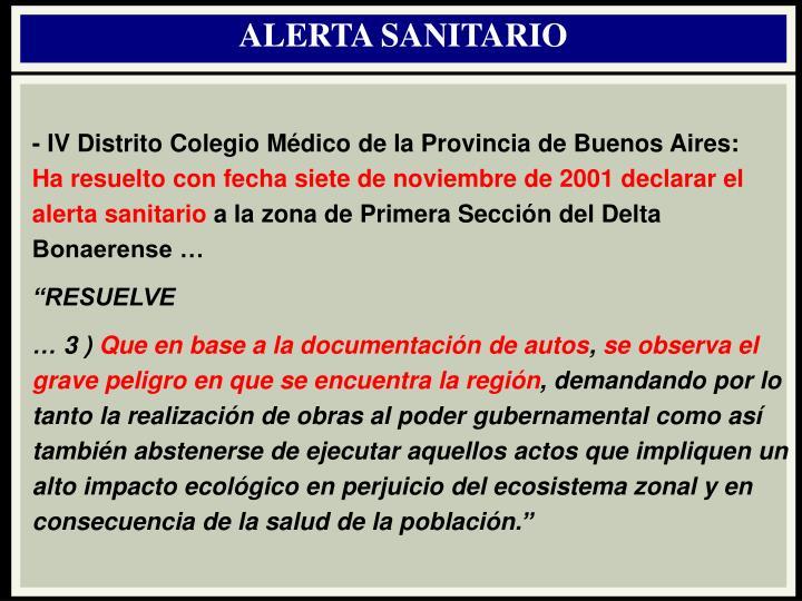 ALERTA SANITARIO