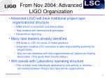 from nov 2004 advanced ligo organization