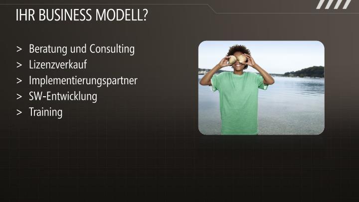 IHR Business modell?