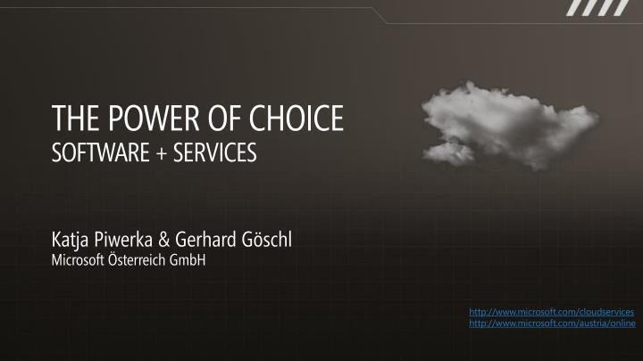 The power of choice software services