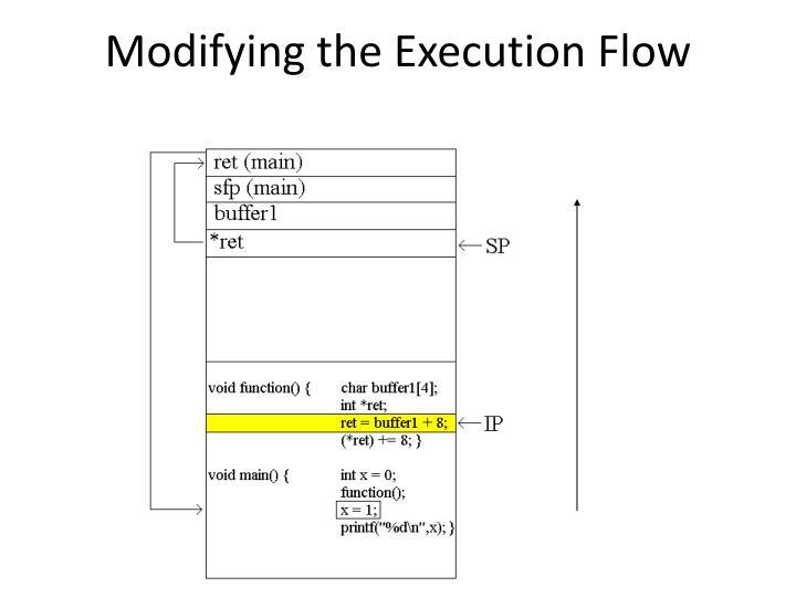 Modifying the Execution Flow