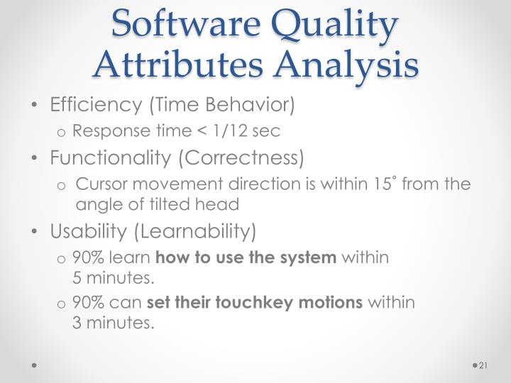 Software Quality Attributes Analysis