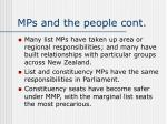 mps and the people cont