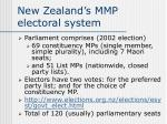 new zealand s mmp electoral system