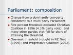 parliament composition