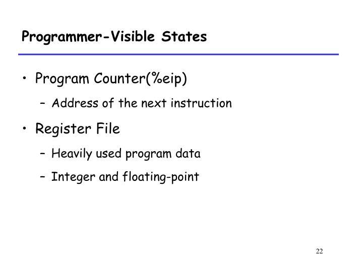 Programmer-Visible States