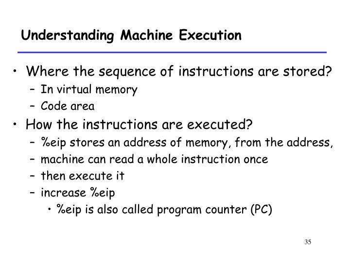 Understanding Machine Execution