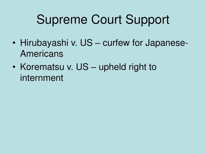 Supreme Court Support