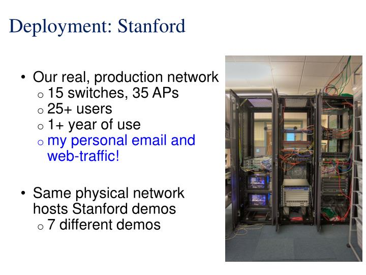 Deployment: Stanford