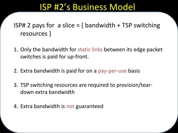 ISP #2's Business Model