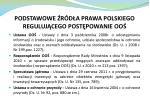 podstawowe r d a prawa polskiego reguluj cego post powanie oo