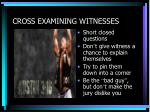 cross examining witnesses