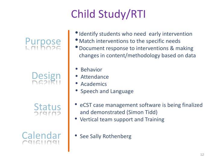 Child Study/RTI