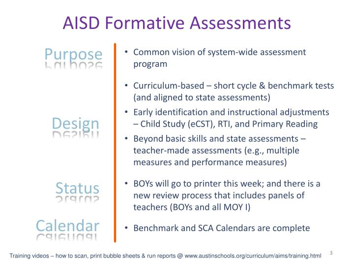 AISD Formative Assessments