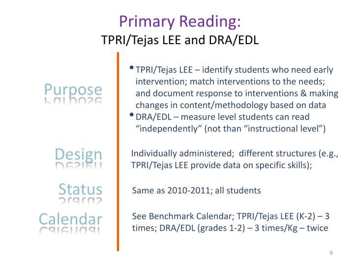 Primary Reading: