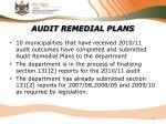 audit remedial plans