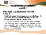 record management cont