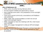 state of mpac establishment and functionality cont1