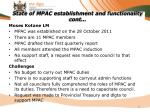 state of mpac establishment and functionality cont11