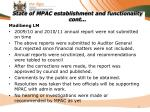 state of mpac establishment and functionality cont12