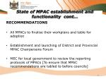 state of mpac establishment and functionality cont14