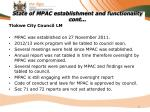 state of mpac establishment and functionality cont2