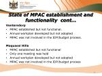 state of mpac establishment and functionality cont3