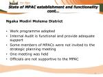state of mpac establishment and functionality cont4