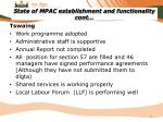 state of mpac establishment and functionality cont5