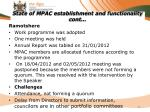 state of mpac establishment and functionality cont7
