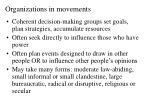 organizations in movements