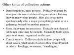 other kinds of collective actions