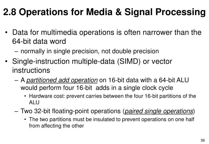 2.8 Operations for Media & Signal Processing