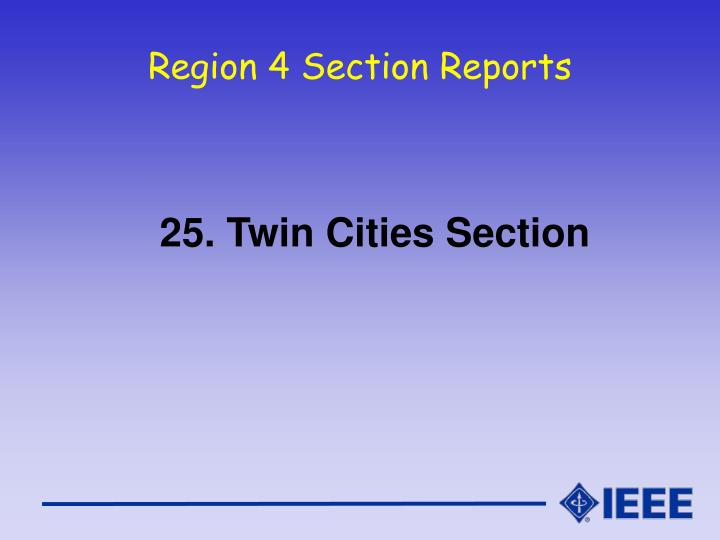 region 4 section reports n.