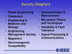society chapters