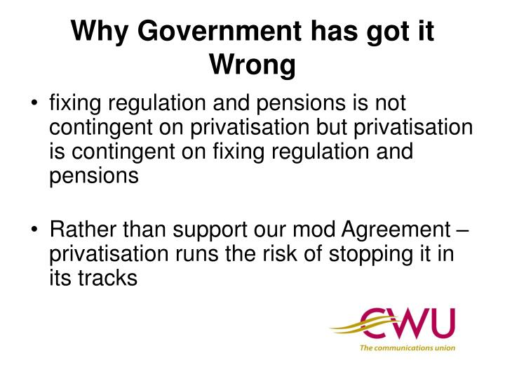 Why Government has got it Wrong