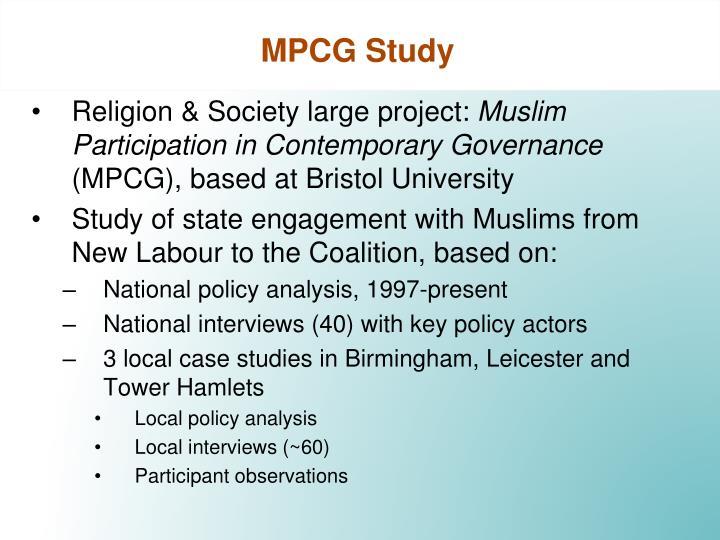 Mpcg study