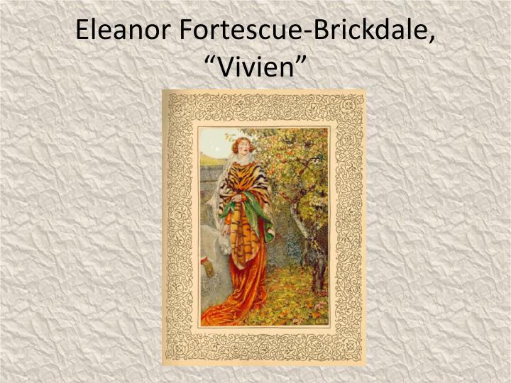 """Eleanor Fortescue-Brickdale, """"Vivien"""""""