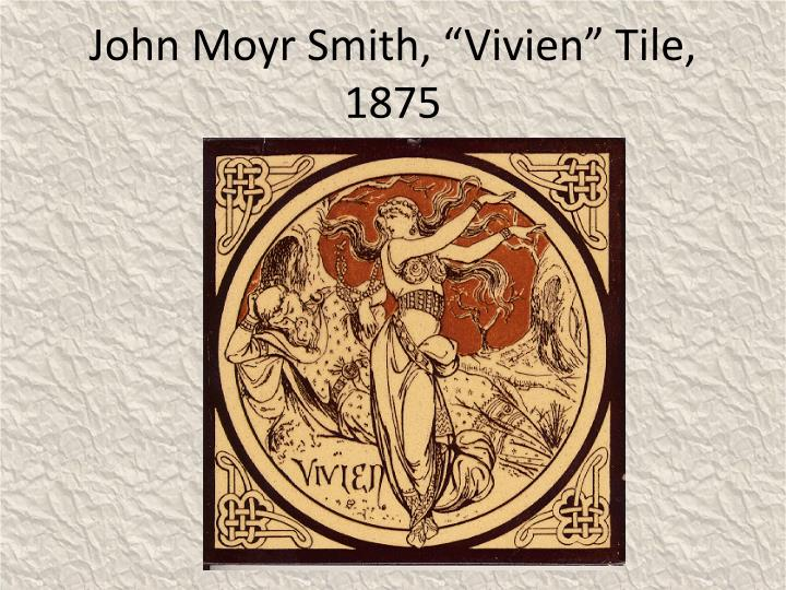 "John Moyr Smith, ""Vivien"" Tile, 1875"
